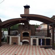 Барбекю комплекс: Мангал, тандыр, печь, отделка клинкерная плитка