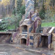 Барбекю комплекс: Мангал, тандыр, печь, отделка природный камень