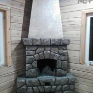 Кирпичный камин отделка лепнина