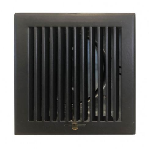 фото решетка с регулировкой черная