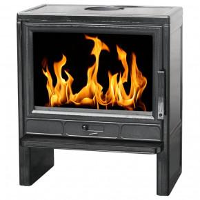 Печь BARUN черная эмалированная (PLAMEN)