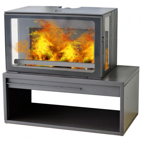 фото печь  ECO MINIMAL 50 черная