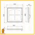 фото схемы дверки каминной ДК555-1К