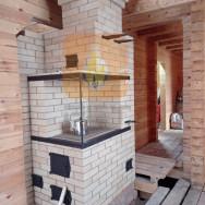 Эльба 700 камино-печь с колодцами